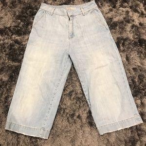 Zara Denim Culotte Jeans